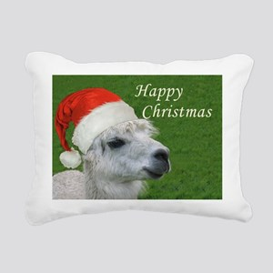 Alpaca Christmas Rectangular Canvas Pillow